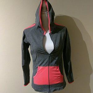 LA Winner work out top zip up with hoodie.